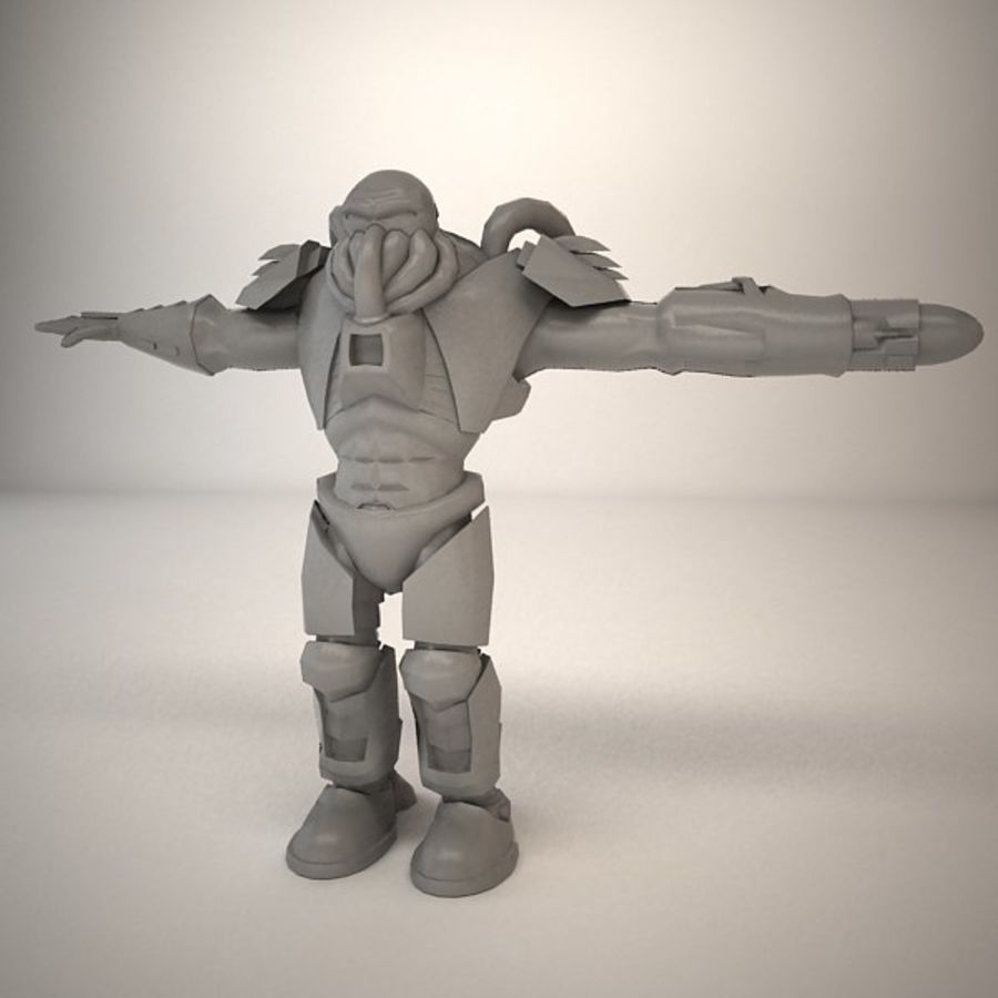 Game Character Creature royalty-free 3d model - Preview no. 7