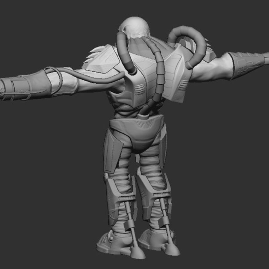 Game Character Creature royalty-free 3d model - Preview no. 2