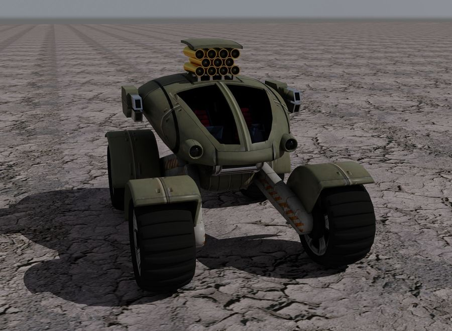 Armored Assault Vehicle royalty-free 3d model - Preview no. 3