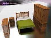 C4_S3_Puebla Bedroom-Hab. Puebla 3d model