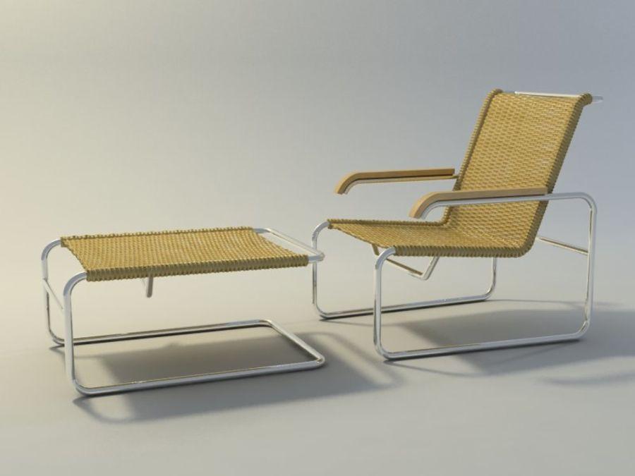 Breuer S35扶手椅和凳子(2) royalty-free 3d model - Preview no. 1