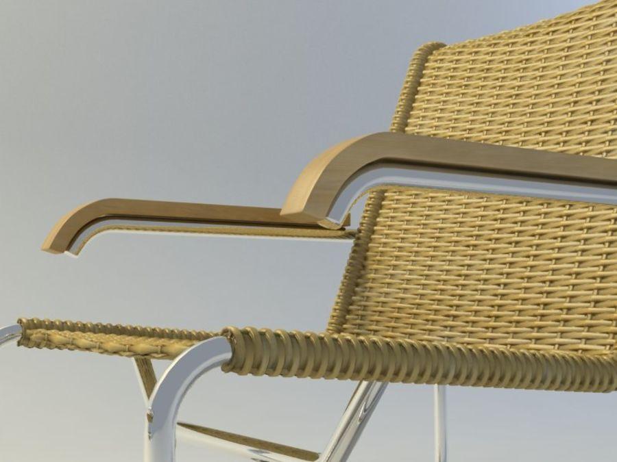 Breuer S35扶手椅和凳子(2) royalty-free 3d model - Preview no. 3