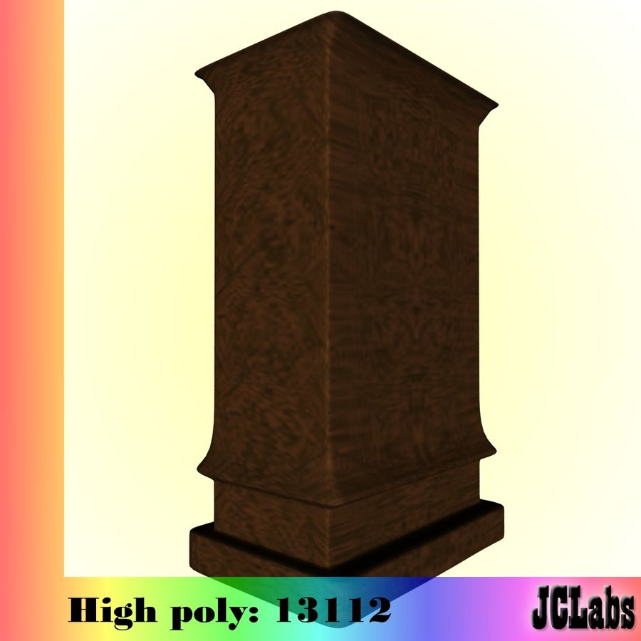 Bookcase royalty-free 3d model - Preview no. 5