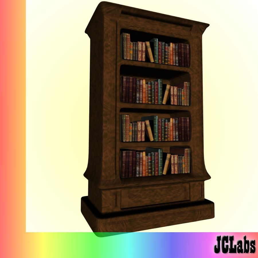 Bookcase royalty-free 3d model - Preview no. 1