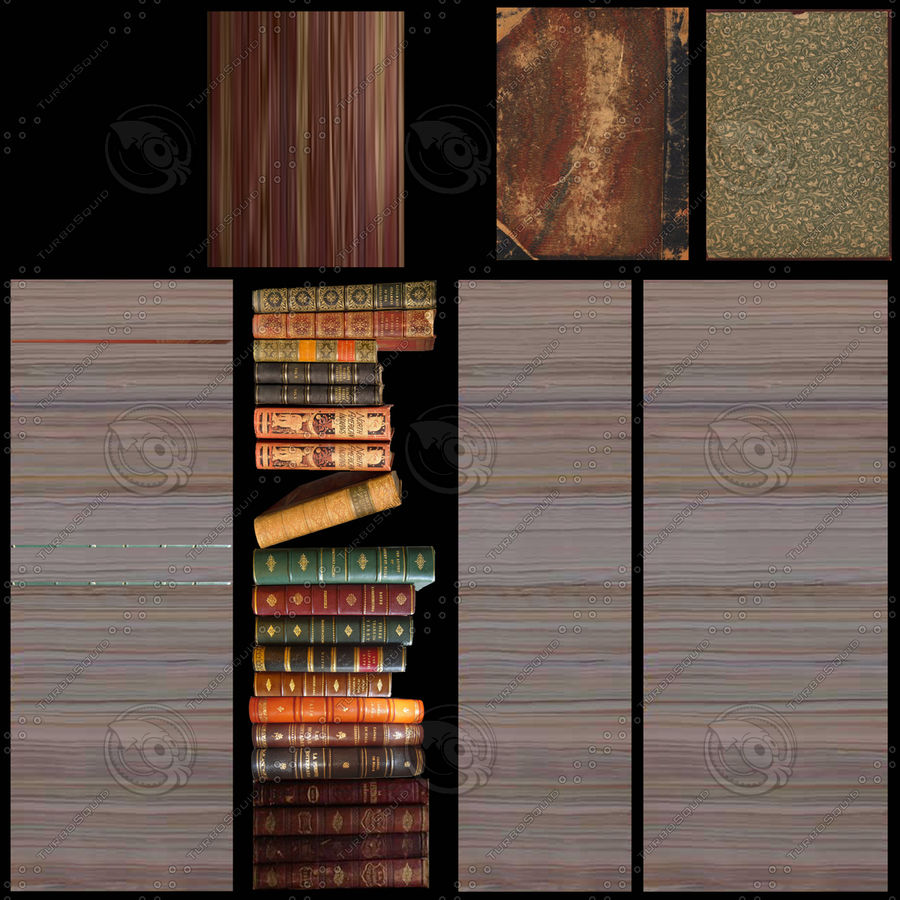 Bookcase royalty-free 3d model - Preview no. 13