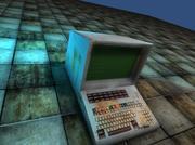 Старомодный терминал 3d model