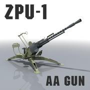ZPU-1 AA GUN - Libya, Syria, Afghanistan 3d model