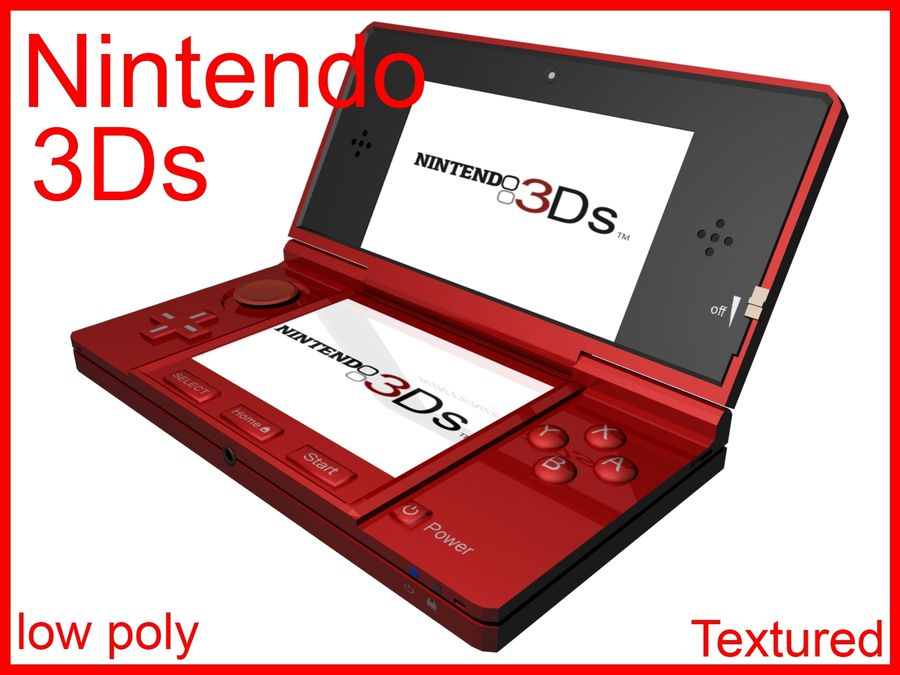 Nintendo 3Ds royalty-free 3d model - Preview no. 1