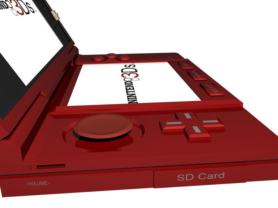 Nintendo 3Ds royalty-free 3d model - Preview no. 21