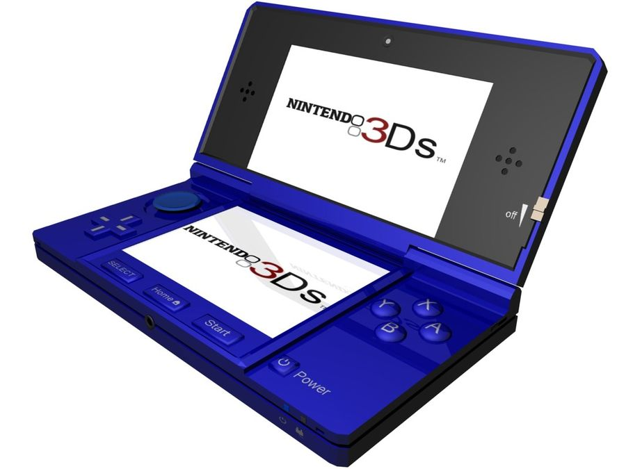 Nintendo 3Ds royalty-free 3d model - Preview no. 13
