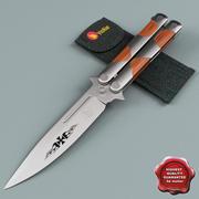 Butterfly Knife Coltin 420 3d model