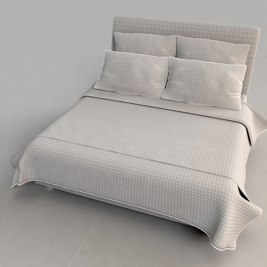 Bed 03 - Comfort royalty-free 3d model - Preview no. 5
