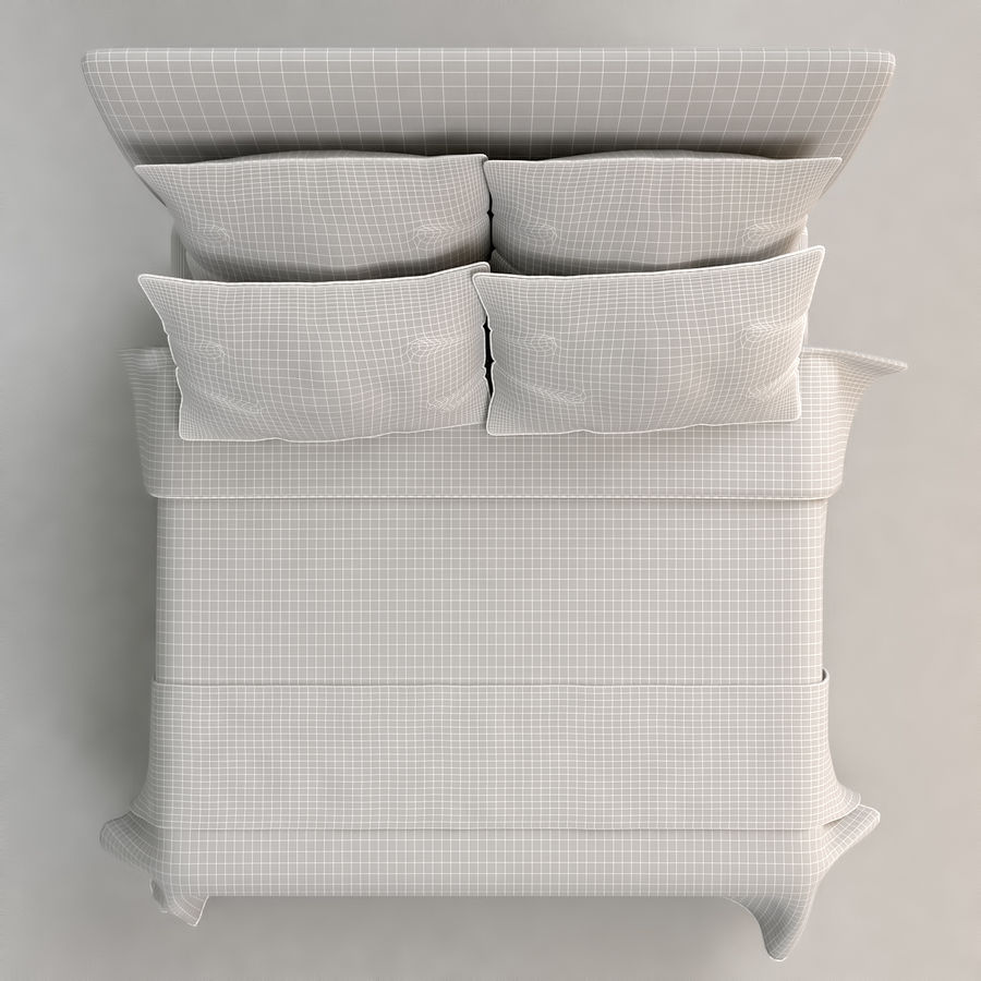 Bed 03 - Comfort royalty-free 3d model - Preview no. 6