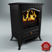 Electric Fireplace V2 3d model