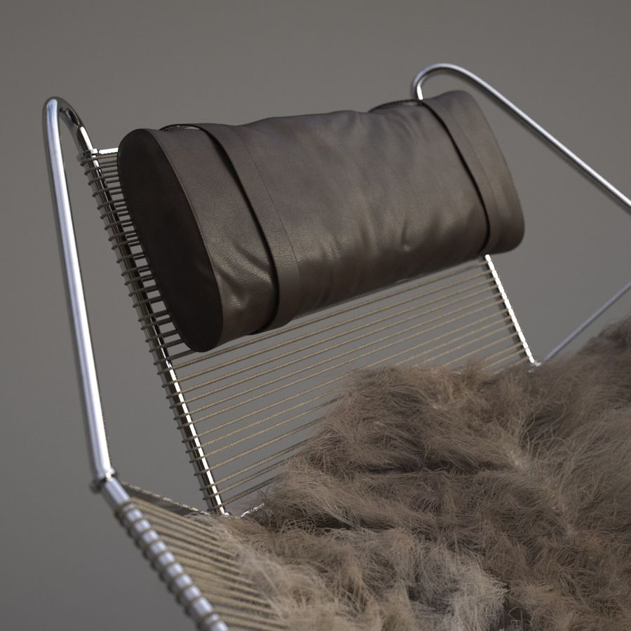 Flag Halyard Chair (PP 225) royalty-free 3d model - Preview no. 4