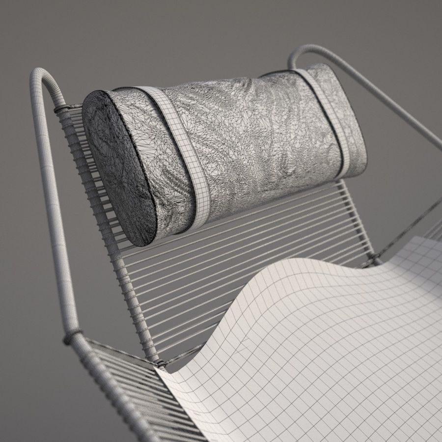 Flag Halyard Chair (PP 225) royalty-free 3d model - Preview no. 7