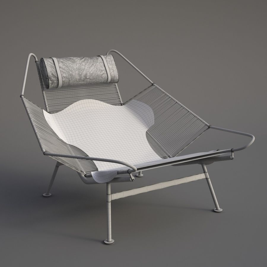Flag Halyard Chair (PP 225) royalty-free 3d model - Preview no. 5
