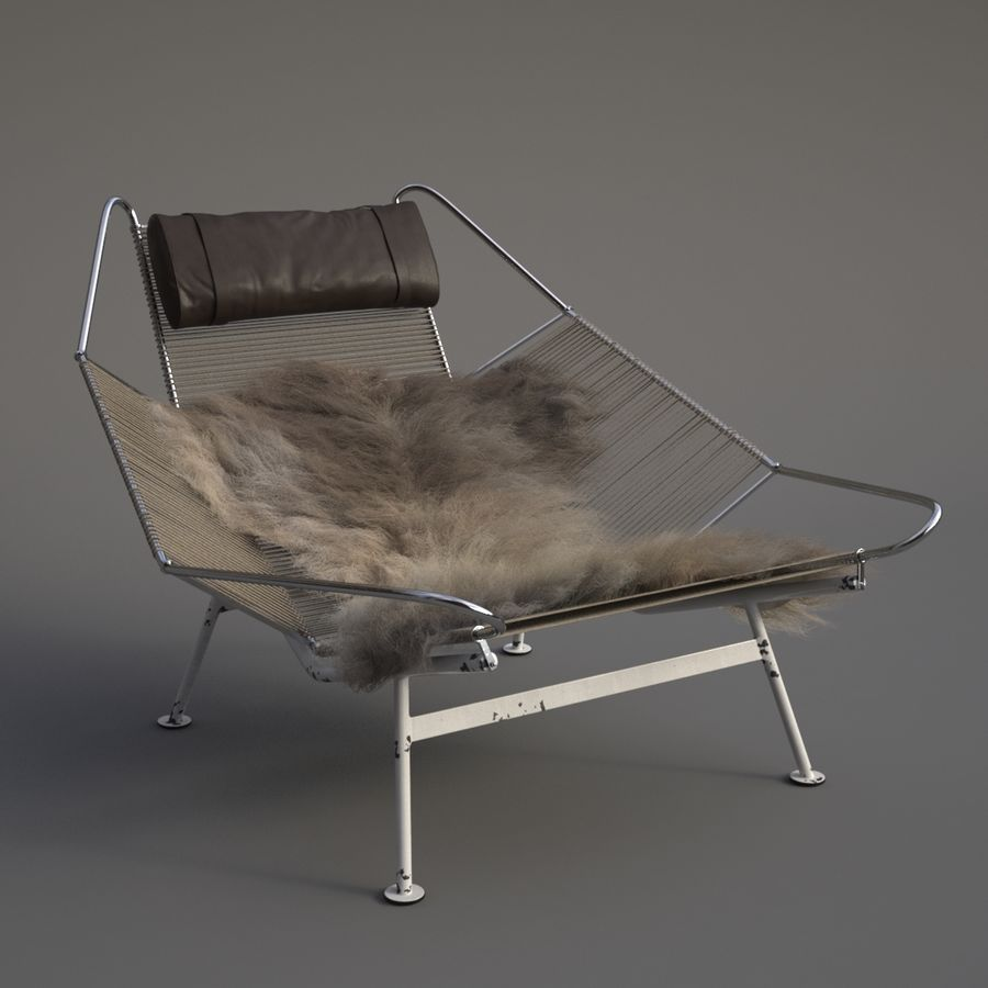 Flag Halyard Chair (PP 225) royalty-free 3d model - Preview no. 2