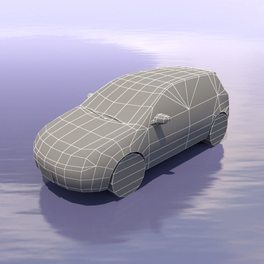 Car Volkswagen Golf royalty-free 3d model - Preview no. 3