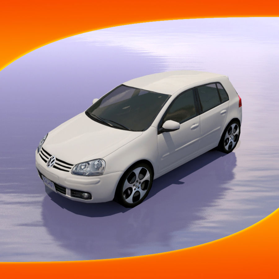 Car Volkswagen Golf royalty-free 3d model - Preview no. 1