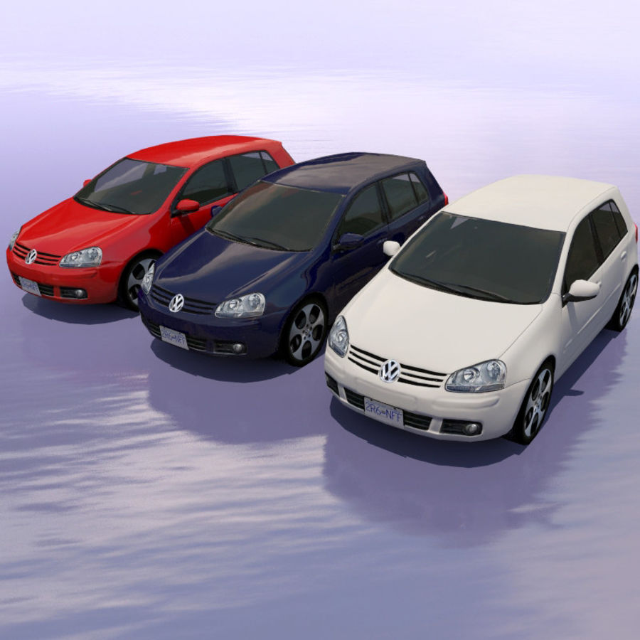 Car Volkswagen Golf royalty-free 3d model - Preview no. 5