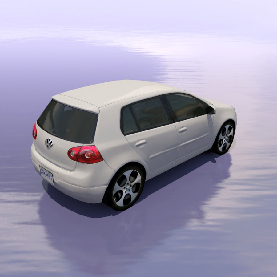 Car Volkswagen Golf royalty-free 3d model - Preview no. 2