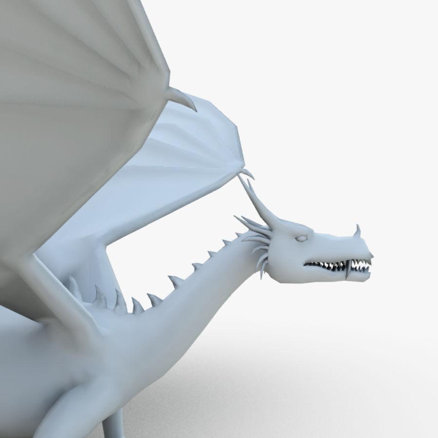 Dragon royalty-free 3d model - Preview no. 7