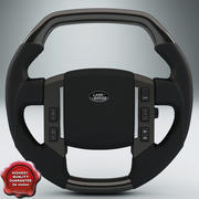 Land Rover Steering Wheel 3d model