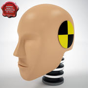 Crash Test Dummy Hibrid 3 Head 3d model