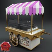 Корзина с мороженым 3d model