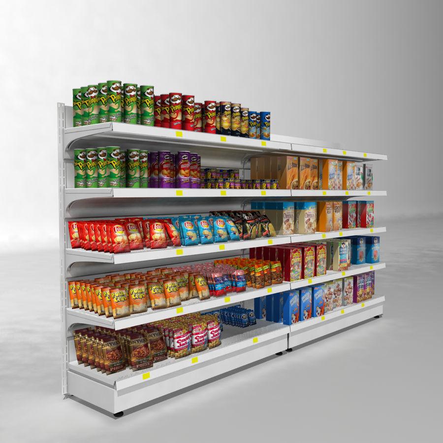 Supermarket Shelves royalty-free 3d model - Preview no. 2