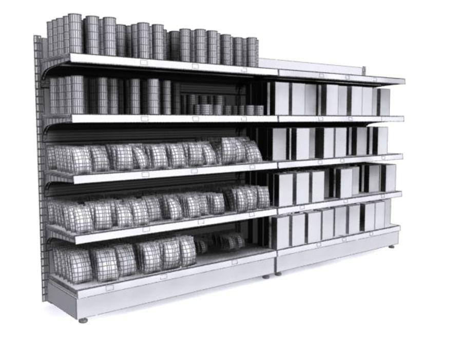 Supermarket Shelves royalty-free 3d model - Preview no. 5