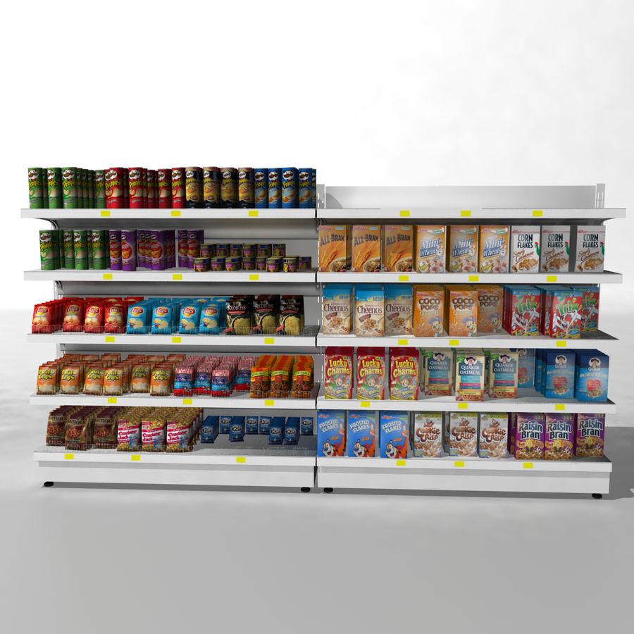 Supermarket Shelves royalty-free 3d model - Preview no. 1