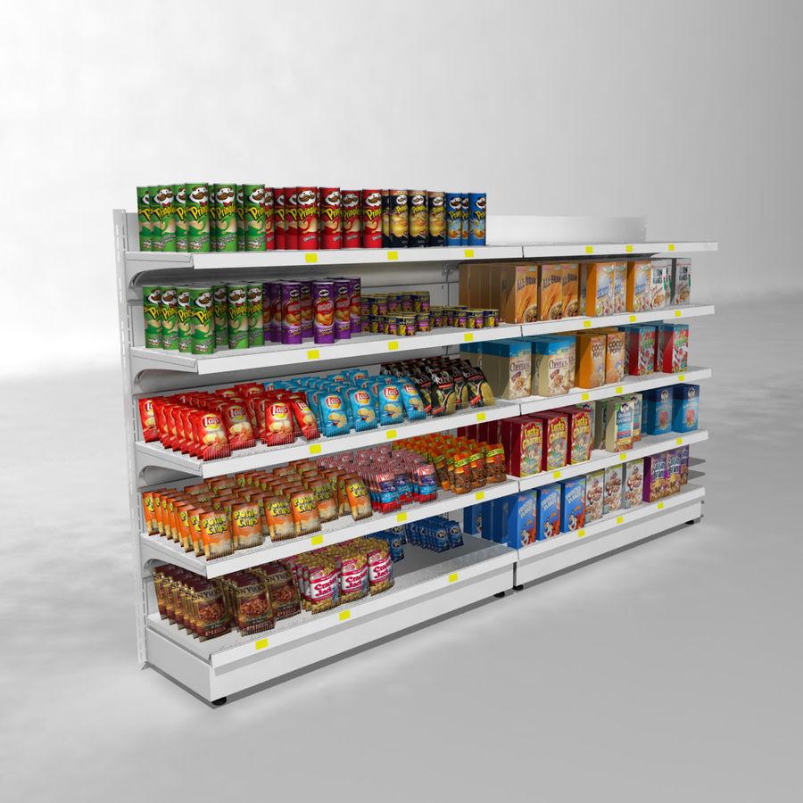 Supermarket Shelves royalty-free 3d model - Preview no. 3