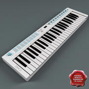 USB MIDI Keyboard U-Key White 3d model