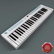 USB MIDI键盘U-Key白色 3d model