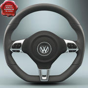 Volkswagen Steering Wheel 3d model