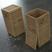Dirty Industrial Wooden Crates 3d model