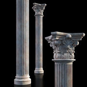 Classical column c01 3d model