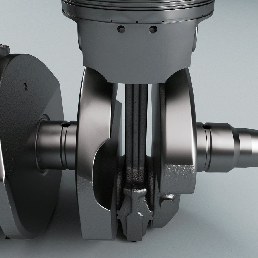 Yamaha Crankshaft and Piston royalty-free 3d model - Preview no. 13