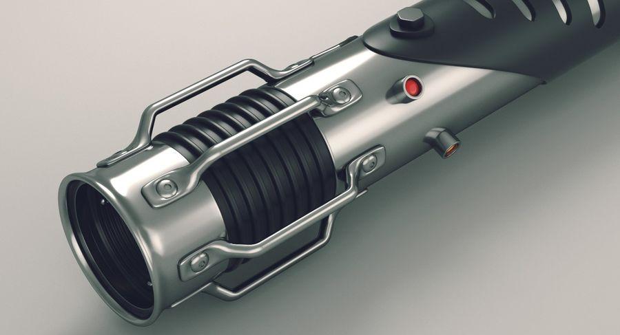 Lightsaber hilt royalty-free 3d model - Preview no. 3