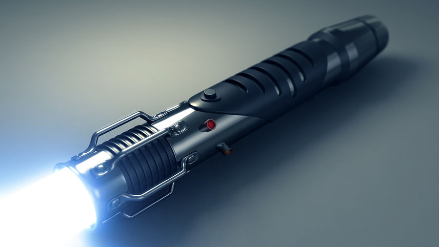 Lightsaber hilt royalty-free 3d model - Preview no. 1