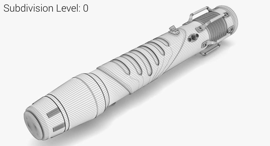 Lightsaber hilt royalty-free 3d model - Preview no. 6