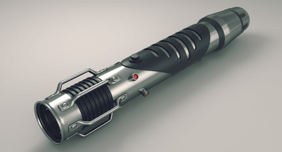 Lightsaber hilt royalty-free 3d model - Preview no. 2