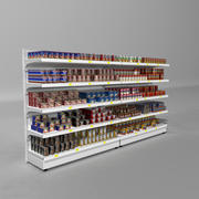 Supermarket Shelves Canned Meals 3d model