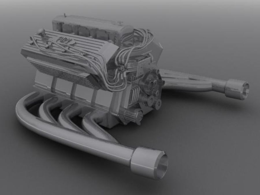 Motore royalty-free 3d model - Preview no. 1
