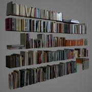 400 realistiska böcker 3d model