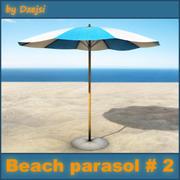 Пляжный зонт № 2 3d model