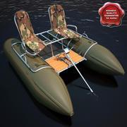 Inflatable Catamaran 3d model