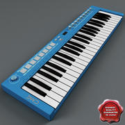 USB MIDI Keyboard U-Key Blue 3d model